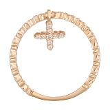 Золотое кольцо с подвеской Светлый крестик