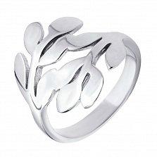 Серебряное кольцо Две ветки с широкой шинкой