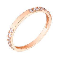 Кольцо из красного золота с фианитами 000126815