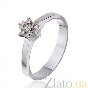 Кольцо из белого золота с бриллиантами Зимний цветок EDM--КД7443/1