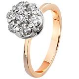 Золотое кольцо с бриллиантами Семь желаний