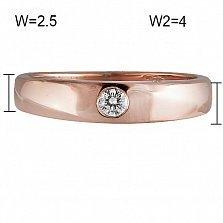 Кольцо из красного золота Солита с бриллиантом