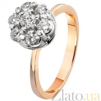 Золотое кольцо с бриллиантами Семь желаний KBL--К1777/крас/брил