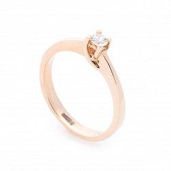 Кольцо из красного золота с бриллиантом 000113163