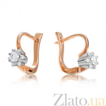 Золотые серьги с бриллиантами Снежная фантазия EDM--С7443