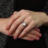 Серебряное кольцо Плавающий камушек с фианитом