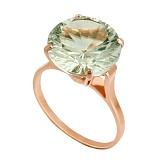 Золотое кольцо с зеленым аметистом Диодора