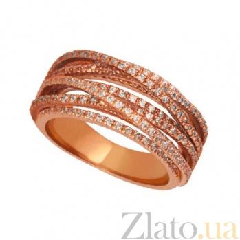 Кольцо из красного золота с фианитами Элиза VLT--ТТТ1245-1