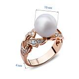Кольцо с жемчугом и бриллиантами Angie