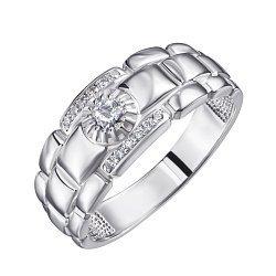 Серебряный перстень Лион с фианитами