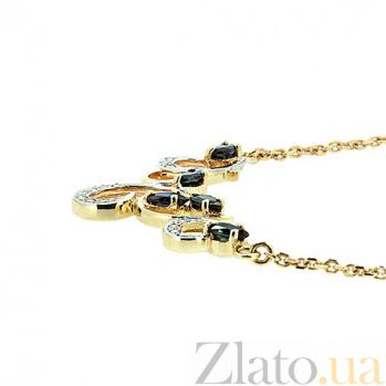 Золотое колье с сапфирами и бриллиантами Виолетта в желтом цвете ZMX--NS-6290y_K