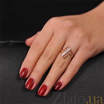 Золотое кольцо с цирконием Стиль EDM--КД0351
