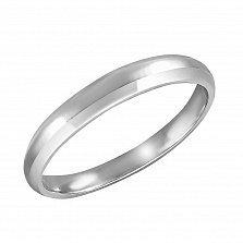 Обручальное кольцо из белого золота Мимезис