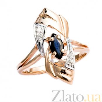 Золотое кольцо с сапфиром и бриллиантами Лукреция ZMX--RS-6178_K