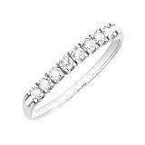 Золотое кольцо Джиннайн в белом цвете с бриллиантами