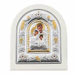 Икона Святое семейство с серебрением