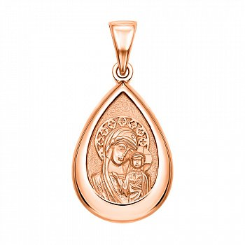 Ладанка из красного золота Богородица 000130893