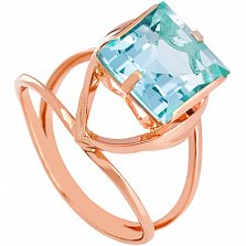 Золотое кольцо Ирма с топазом
