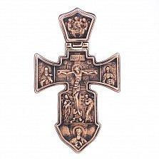 Золотой православный крест Покровители с неба