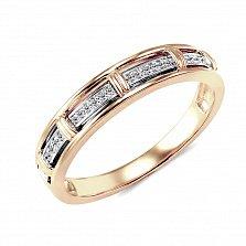 Обручальное кольцо Адалинда из красного золота с бриллиантами