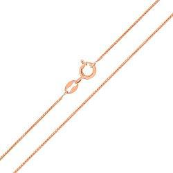 Цепочка из красного золота Мальта в плетении снейк, 0,8мм