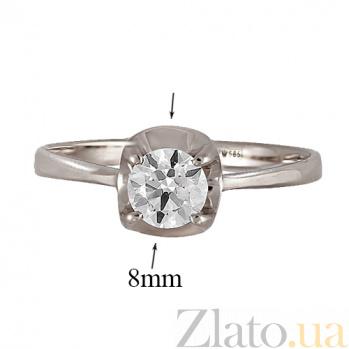 Кольцо из белого золота с фианитом Феррара 000022899