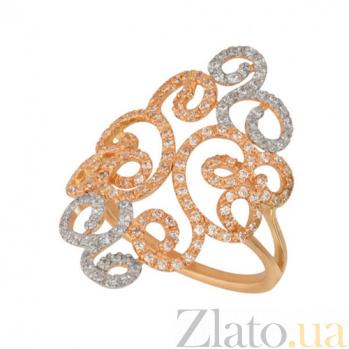 Кольцо из красного золота Вивьен с цирконием VLT--ТТТ1206