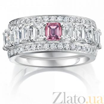 Кольцо Argile из белого золота с бриллиантами и розовым сапфиром R-cjAr-W-1s-42d