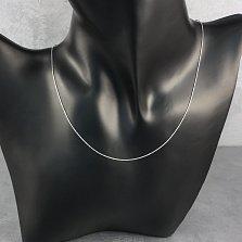 Цепочка из серебра Наоми с насечкой, 0,5мм