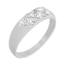 Серебряное кольцо Элейн с фианитами