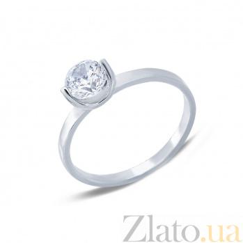 Серебряное кольцо с кубическим цирконием Леди AQA--1181
