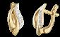 Позолоченные серебряные сережки с фианитами Ветер SLX--С3Ф/045