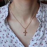 Крест из комбинированного золота Святой дух