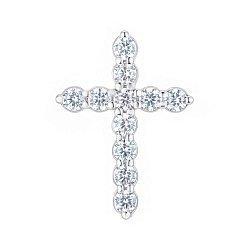 Серебряный крестик с фианитами 000148208