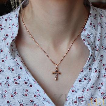 Крест из комбинированного золота Святой дух 000023899