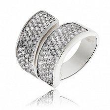 Серебряное кольцо Белая кошка