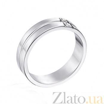 Обручальное кольцо из белого золота Фаина с фианитами 10129б