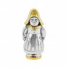 Серебряная солонка Девочка с позолотой