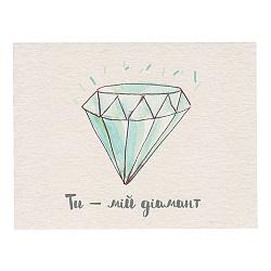 Мини-открытка Ти – мій діамант из плотного матового картона