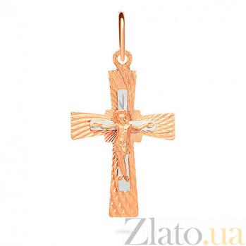 Золотой крестик Вера и любовь SUF--529404