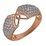 Кольцо из красного золота с фианитами Ингрид