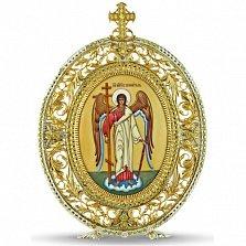 Серебряная икона с финифтьевым образом Ангел Хранитель