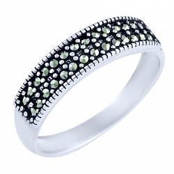 Кольцо из серебра Дана с марказитом