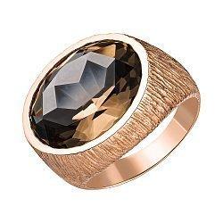 Кольцо из красного золота с раухтопазом 000147788