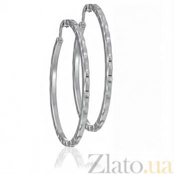 Сережки из серебра Наяда 10030174