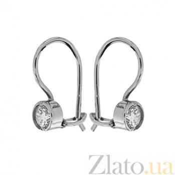 Серебряные серьги Беатриче маленькие TNG--470703С
