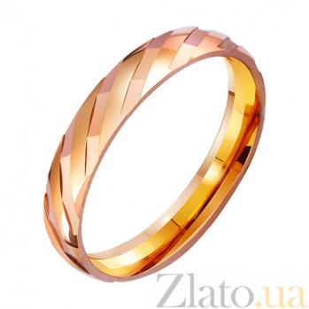Золотое обручальное кольцо Бесконечная любовь TRF--4111186