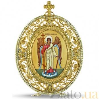 Серебряная икона с финифтьевым образом Ангел Хранитель 2.78.0102