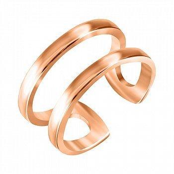 Серебряное кольцо на фалангу в позолоте 000053473