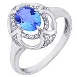 Серебряное кольцо с кварцем Восточная сказка